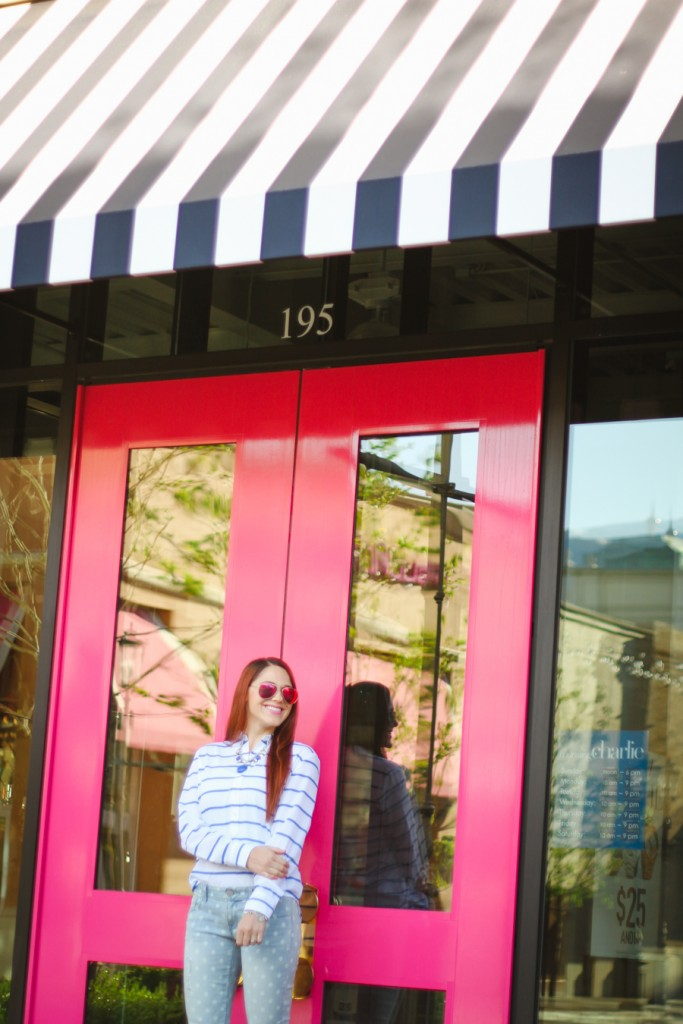 stripes and polka dots- casual outfit