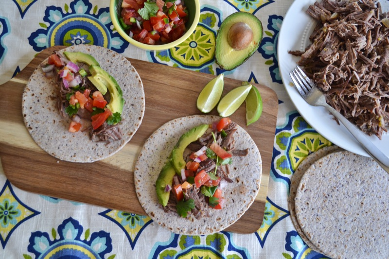 beef tacos with salsa verde // www.thefabblog.com