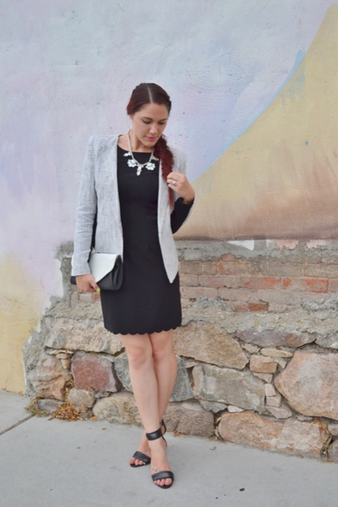 dress up your LBD with a blazer and heels