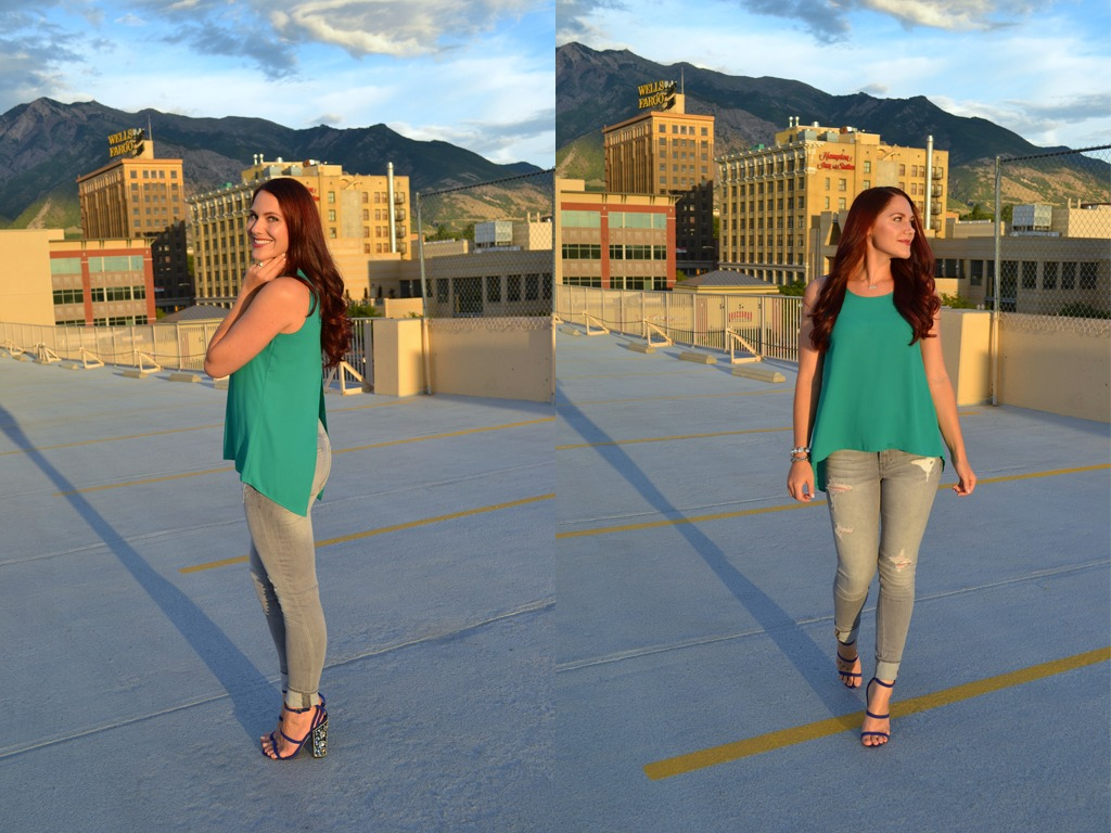 jewel toned summer outfit