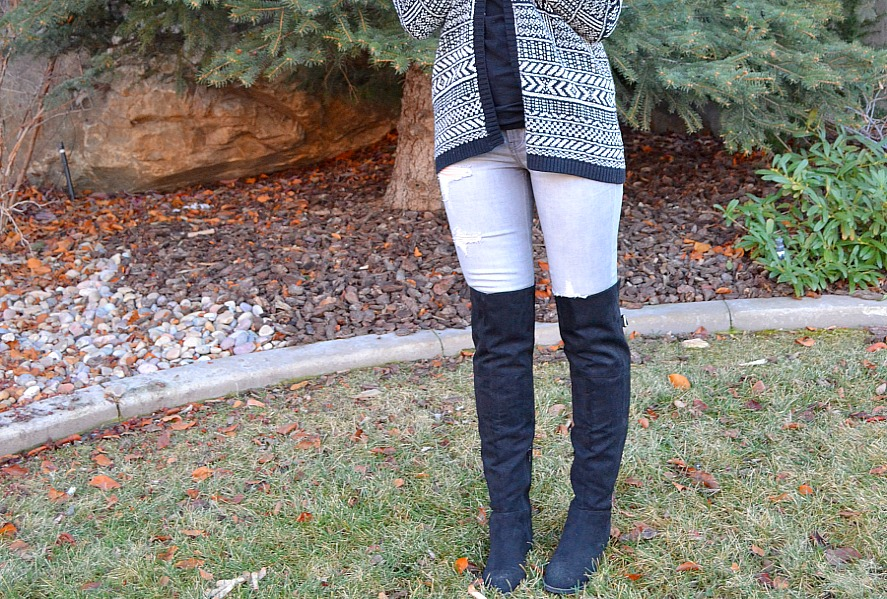 over the knee boots from Express