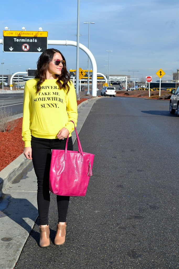 aiport style- wildfox shirt from Nordstrom