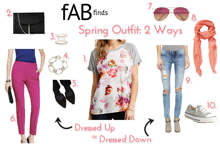 spring outfit: 2 ways- dressed up or down