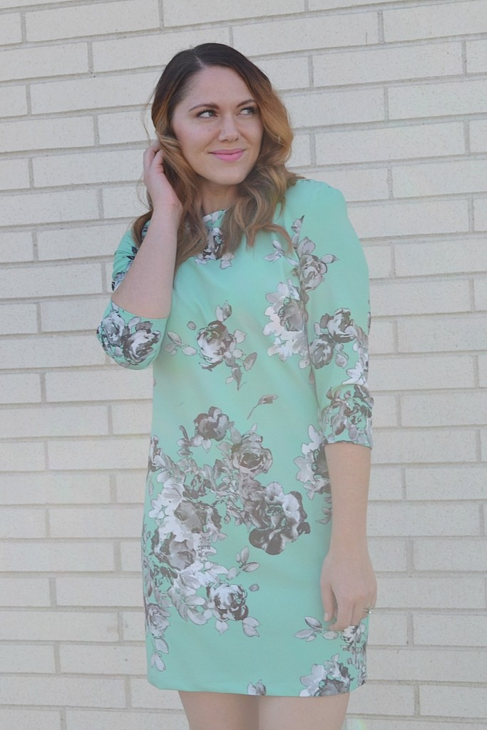 mint floral dress from Asos