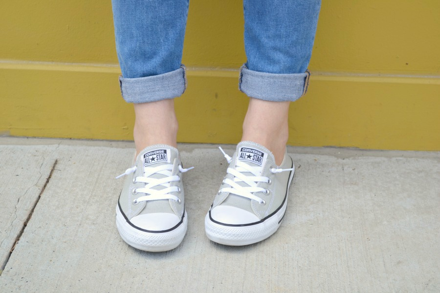 gray slip-on chucks