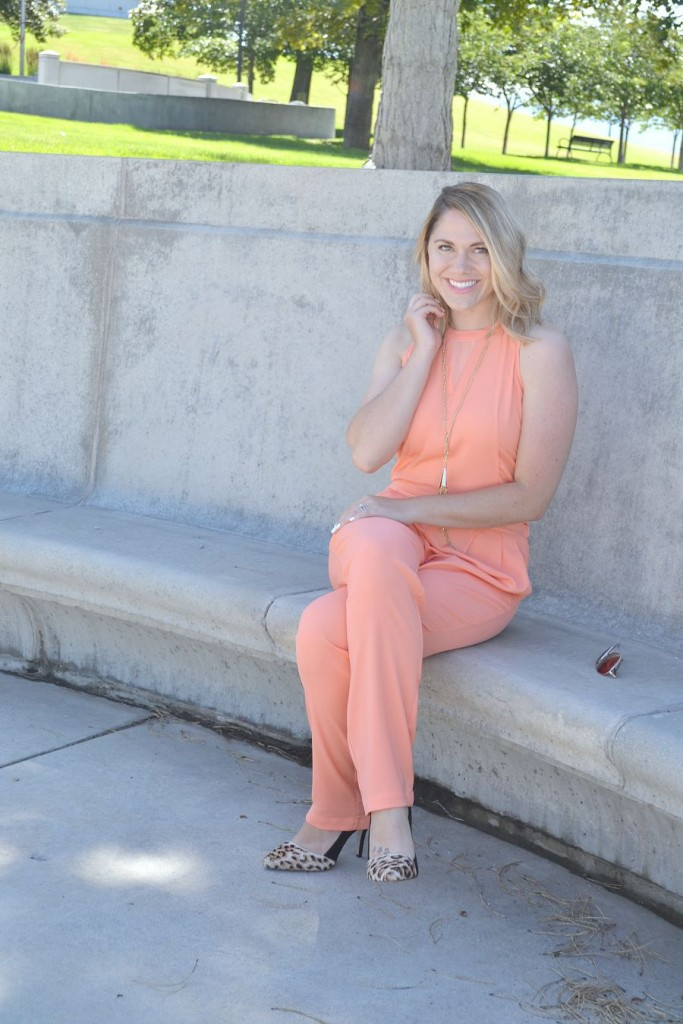 coral jumpsuit from Target