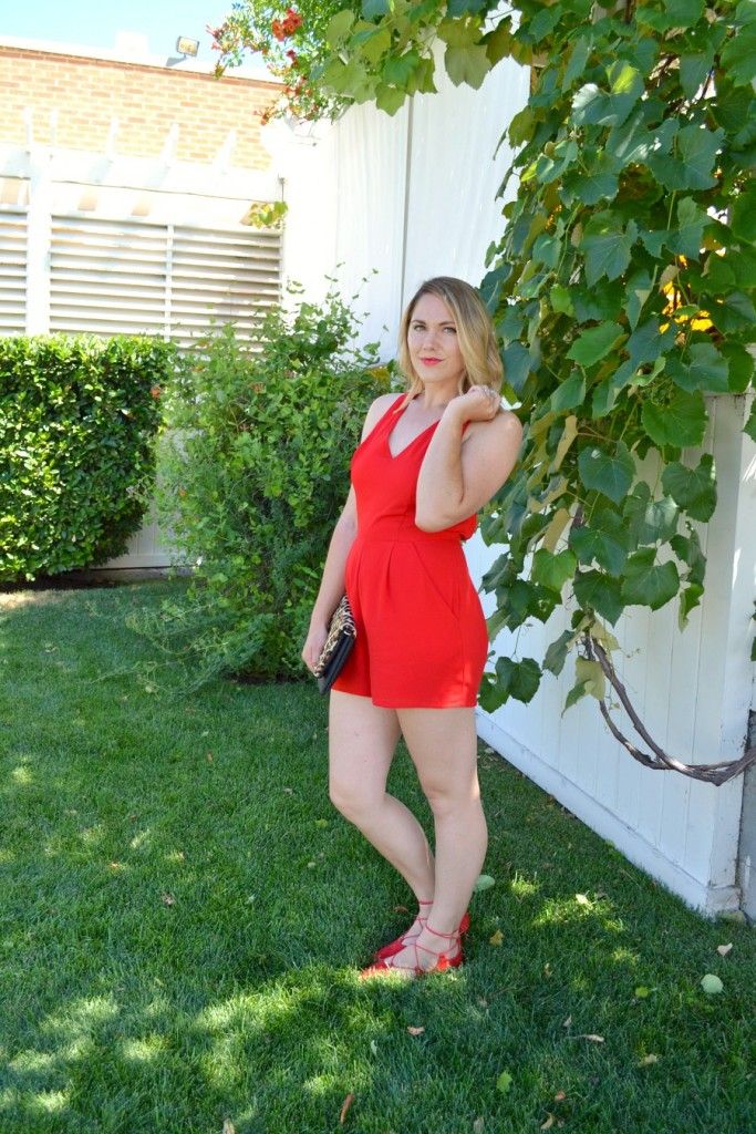 red romper from Express
