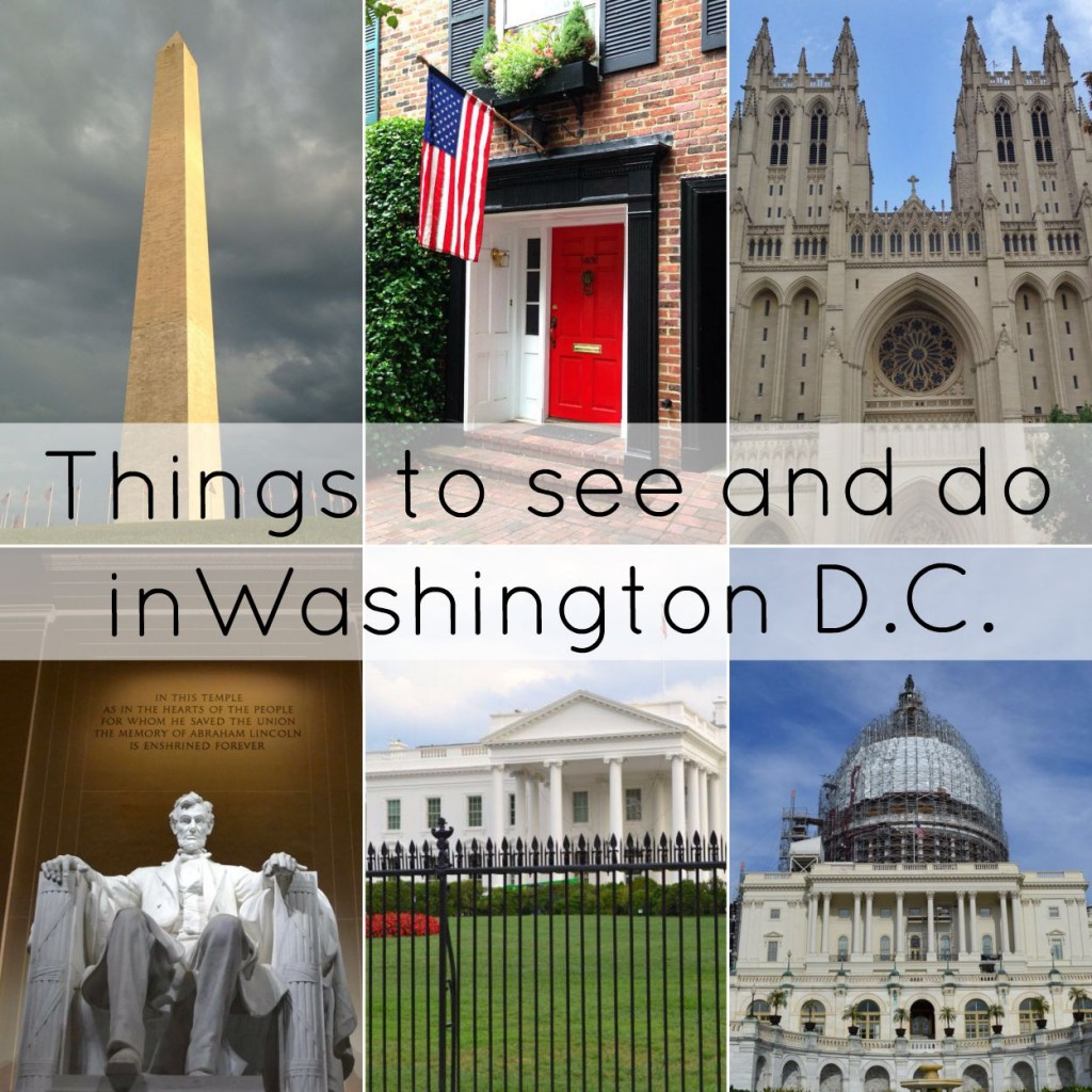Things to see and do in Washington D.C.