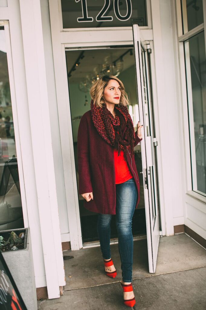 red & berry winter outfit // www.thefabblog.com