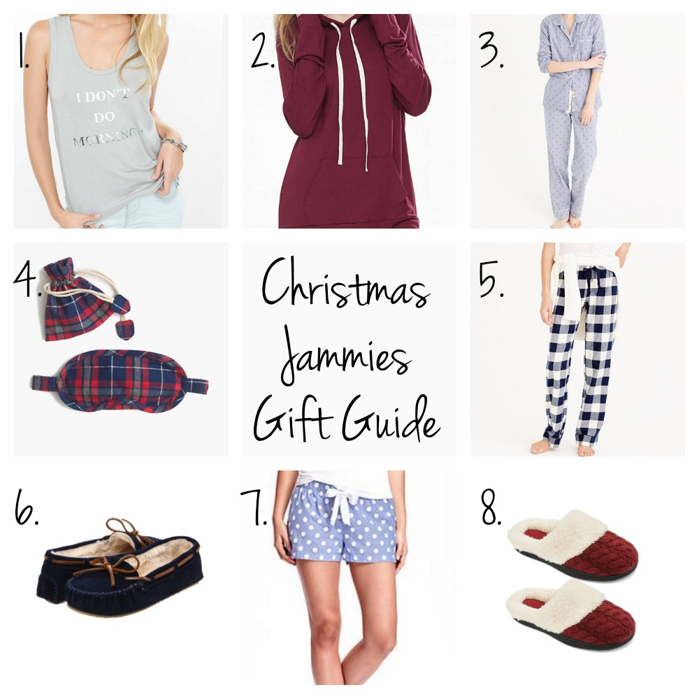 Christmas jammies gift guide // www.thefabblog.com