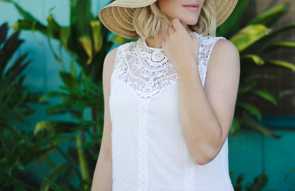 white crochet beach dress // thefabblog.com