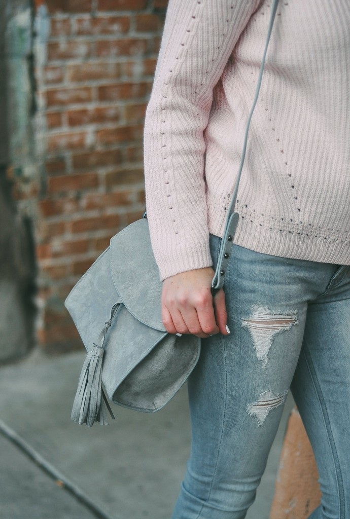 gray and pink outfit // www.thefabblog.com
