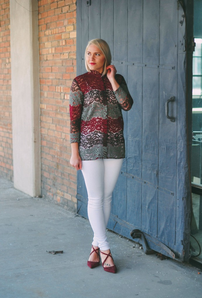 colorblock lace // www.thefabblog.com