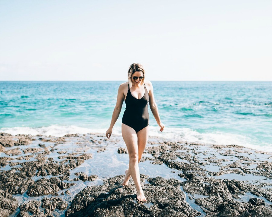 the best black one-piece for summer // www.thefabblog.com