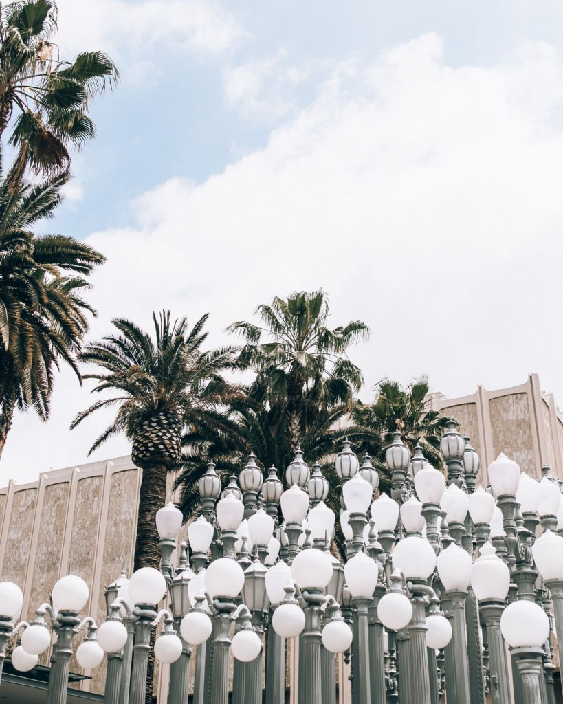9 fun Instagram spots in LA, California- LACMA Urban Light // www.thefabblog.com