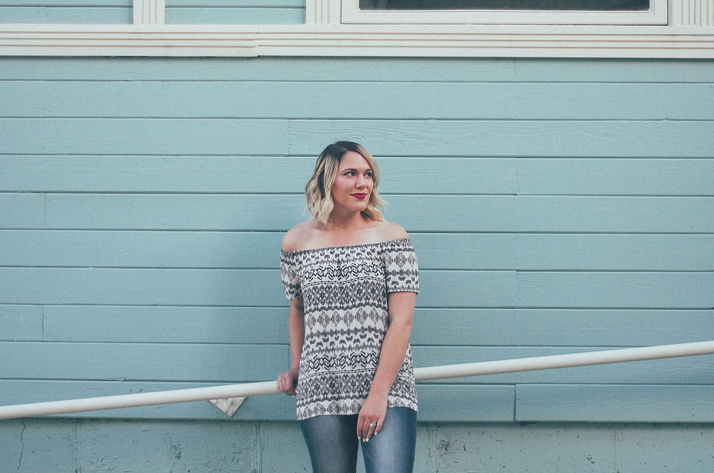 summer trend: off the shoulder top // www.thefabblog.com