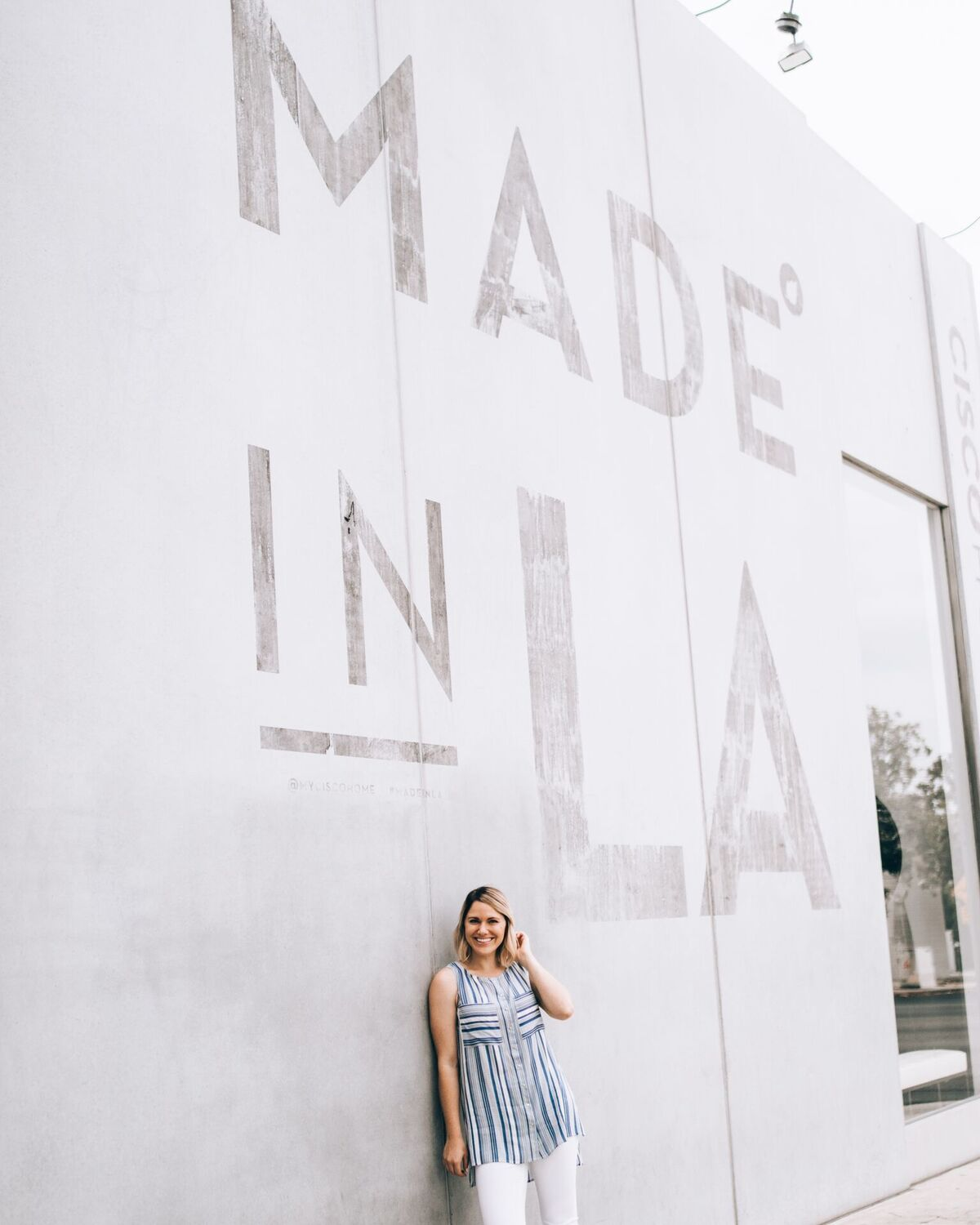 9 fun Instagram spots in LA, California- Made in LA wall mural // www.thefabblog.com