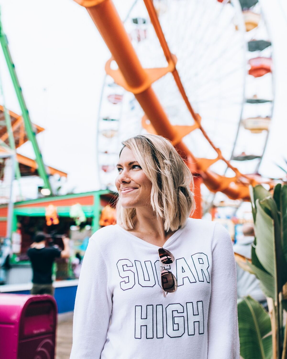 "Wildfox ""Sugar High"" at Santa Monica Pier // www.thefabblog.com"