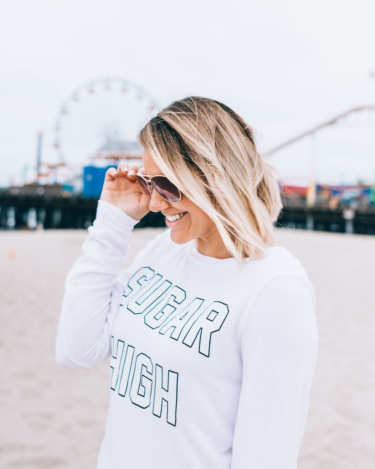 "Wildfox ""Sugar High"" at Santa Monica Beach // www.thefabblog.com"