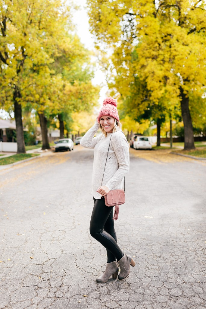 sweater & beanie weather outfit // www.thefabblog.com