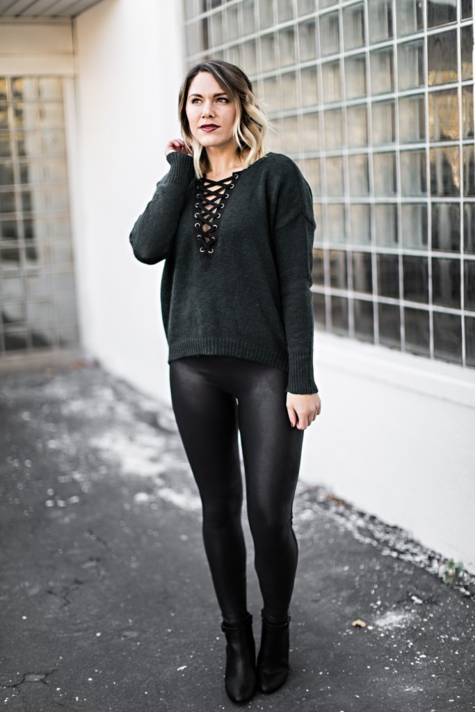 cozy sweater and leggings // www.thefabblog.com