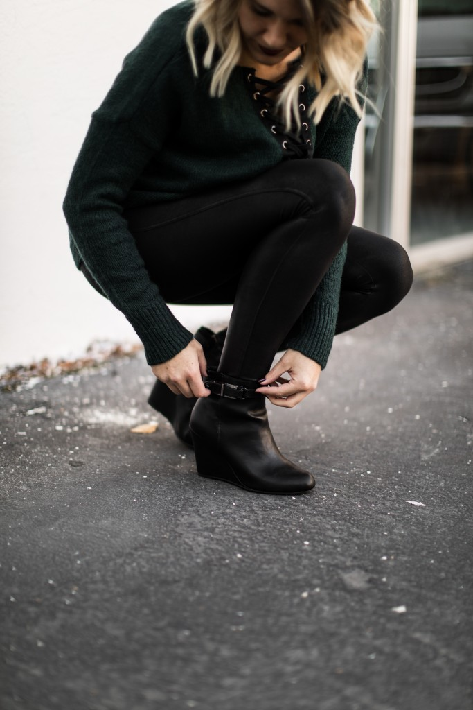 leggings and wedge booties // www.thefabblog.com