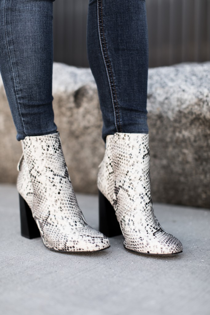 snake print booties // www.thefabblog.com