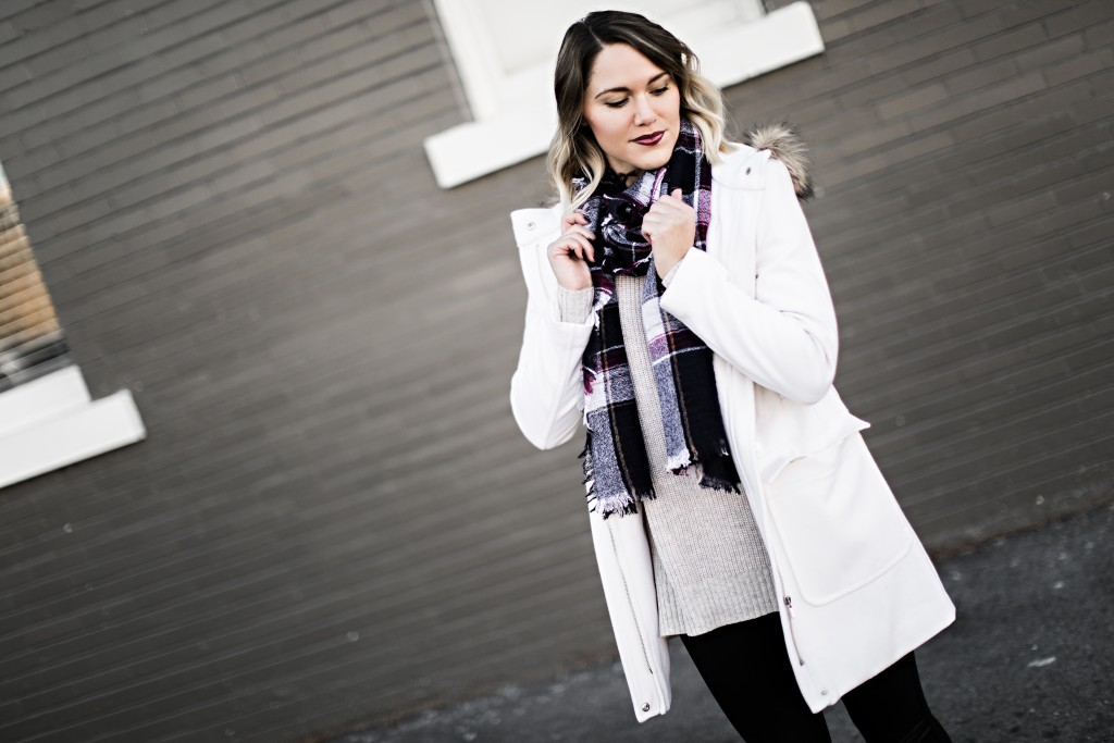 winter coat, scarf & sweater // www.thefabblog.com