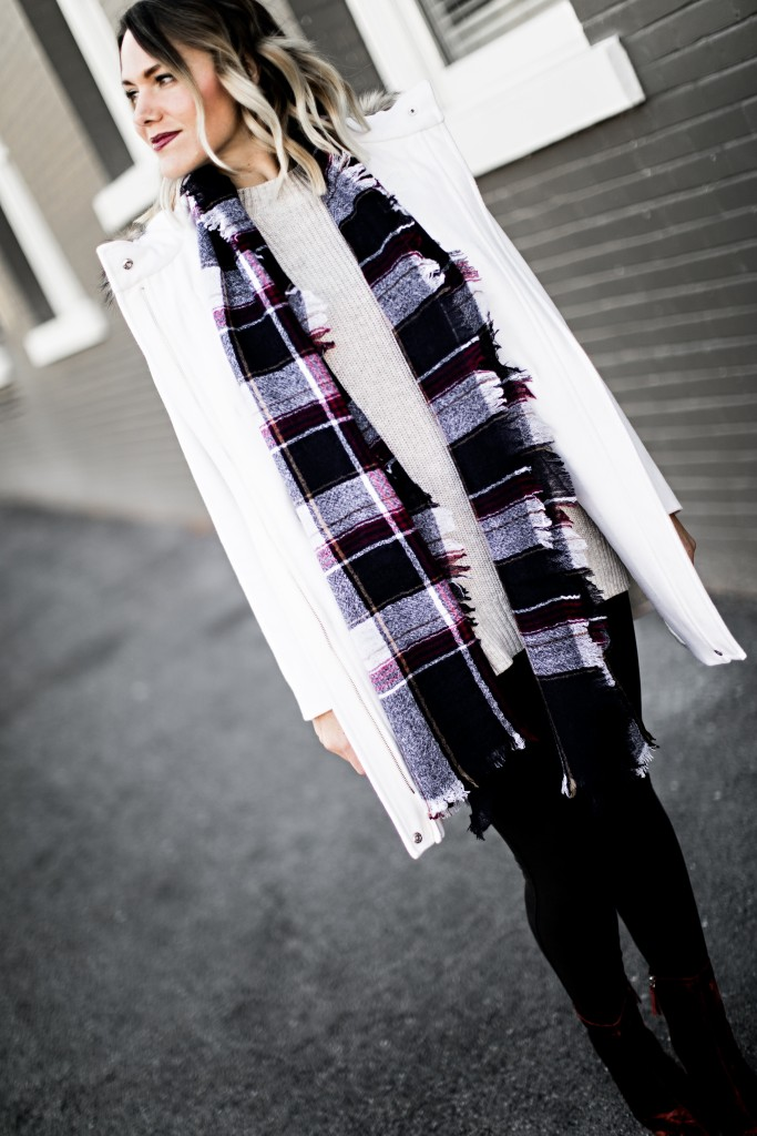 winter coat and scarf // www.thefabblog.com
