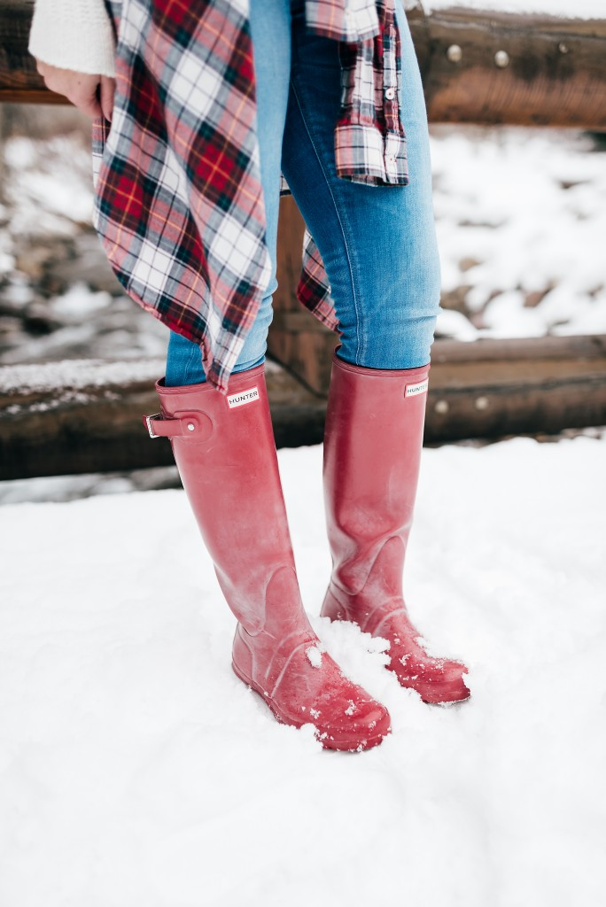 red hunter boots // www.thefabblog.com