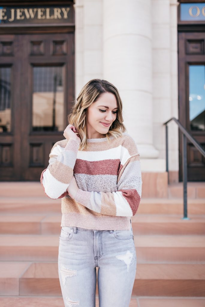 pastel striped sweater // www.thefabblog.com