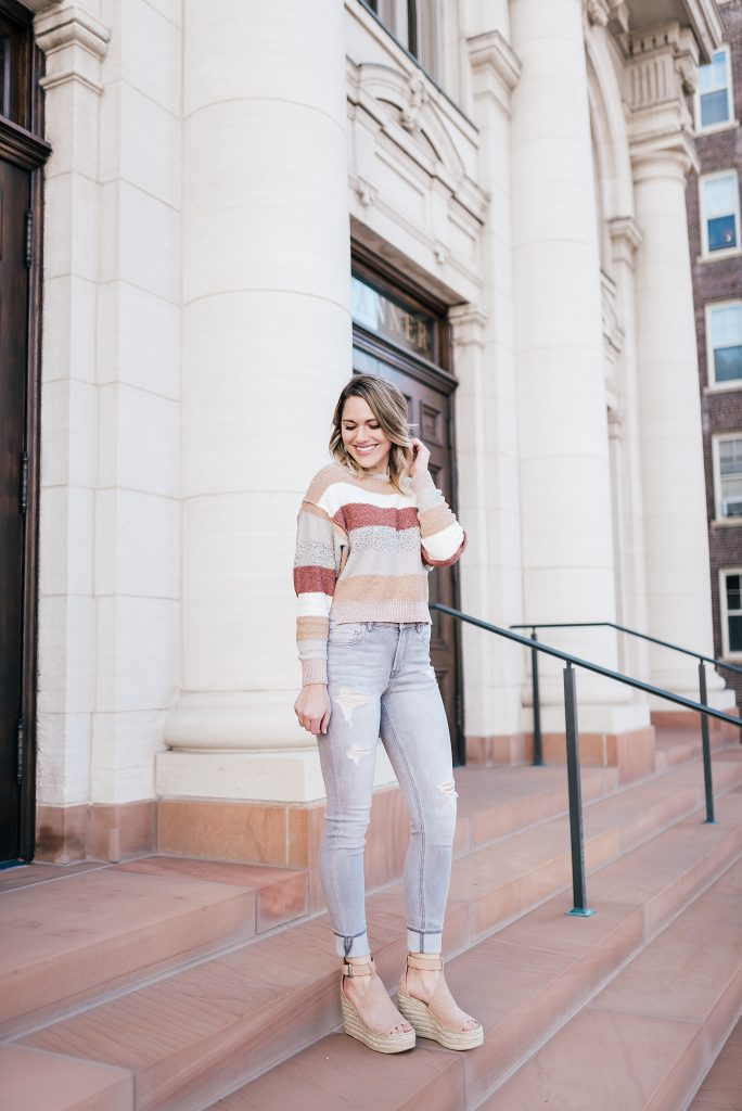 sweater, jeans and wedges // www.thefabblog.com
