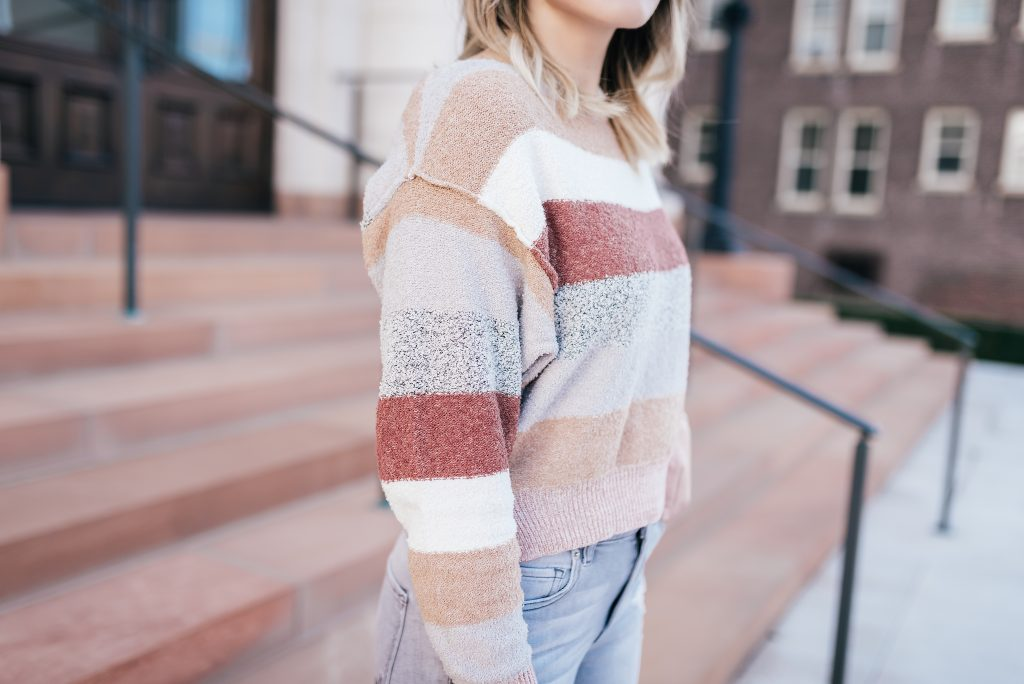 pastel striped sweater from Free People // www.thefabblog.com
