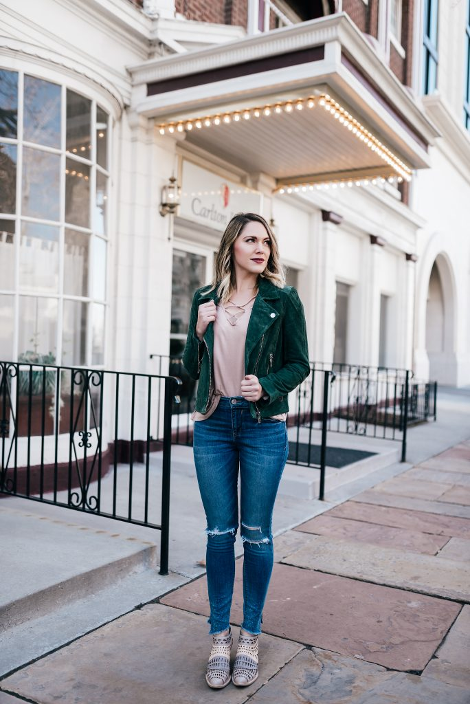 moto jacket and jeans // www.thefabblog.com