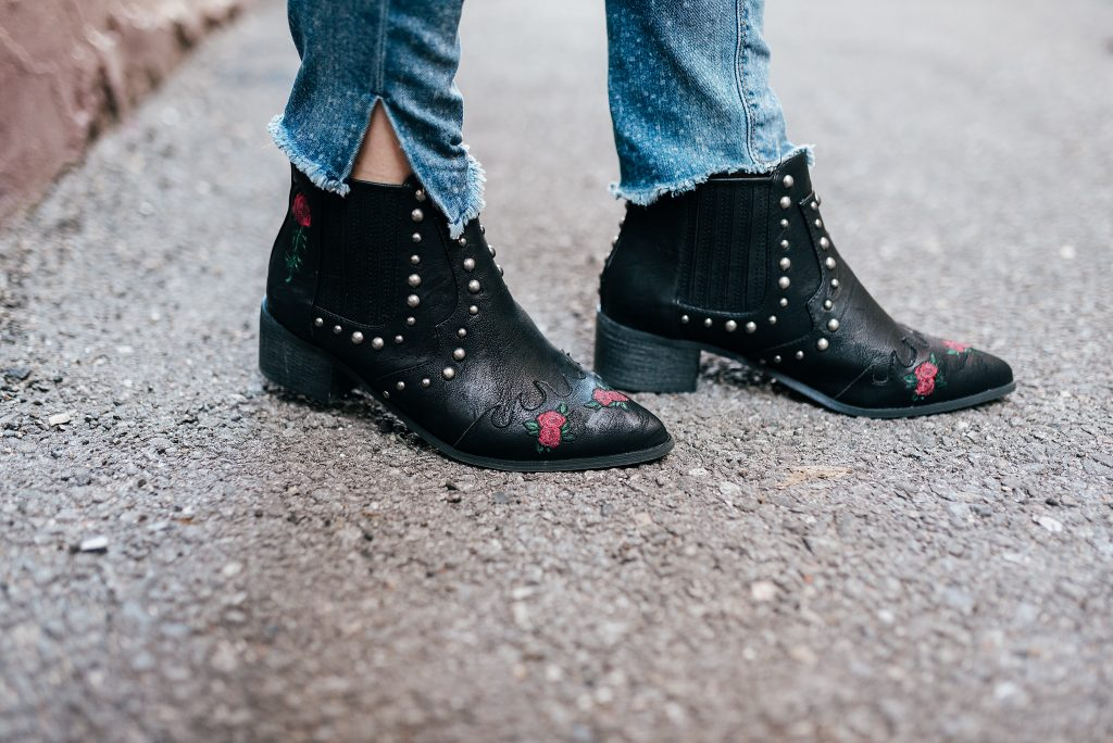 black western booties with roses // www.thefabblog.com