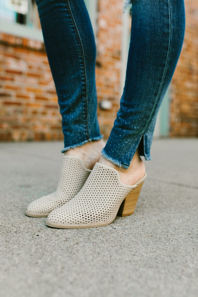 perforated mule booties // www.thefabblog.com
